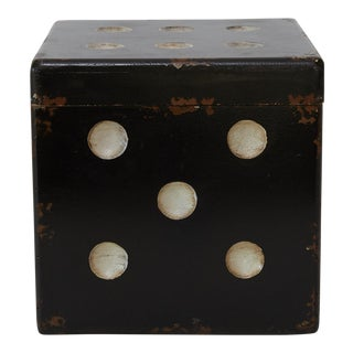 "Pop Art Style ""Dice"" Wood Box For Sale"