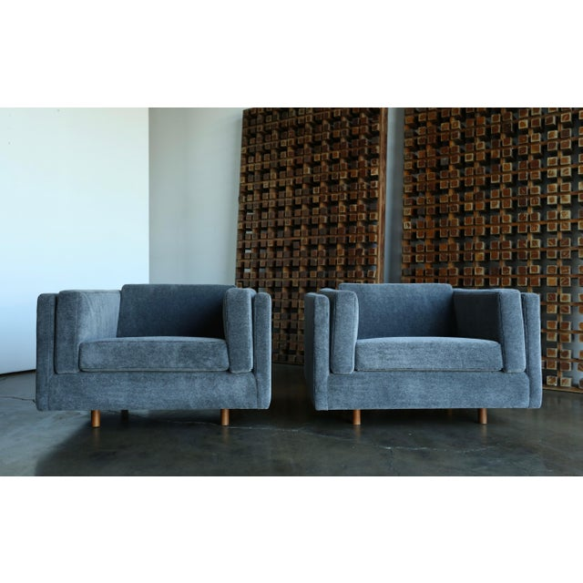 1960s Harvey Probber Grey Mohair Lounge Chairs - a Pair For Sale - Image 11 of 13