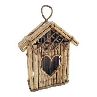 Vintage Bird House Cage Wood Stick Branch