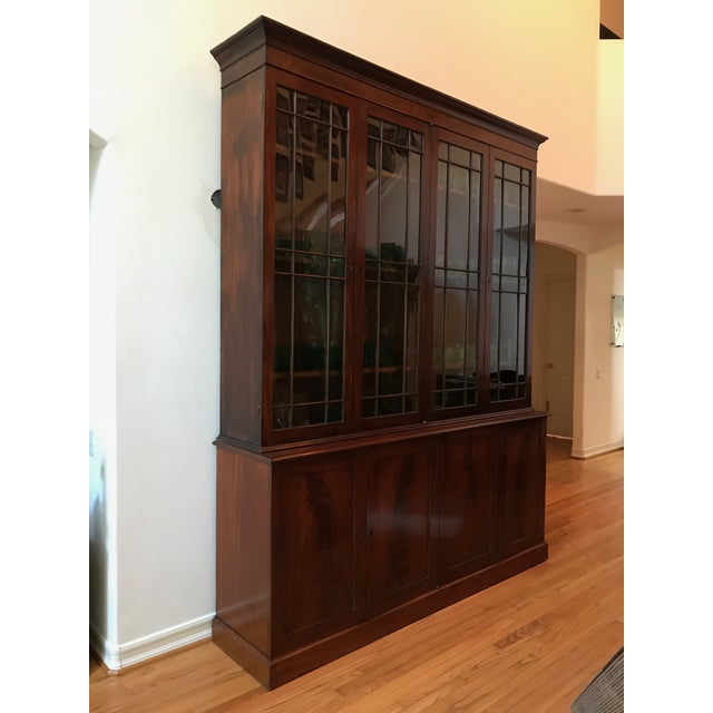 George III Style Mahogany Bookcase Cabinet For Sale - Image 13 of 13