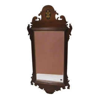 Chippendale Federal Mahogany Wall Mirror