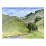 Image of Cows on a Hill Black Diamond Mines Painting For Sale