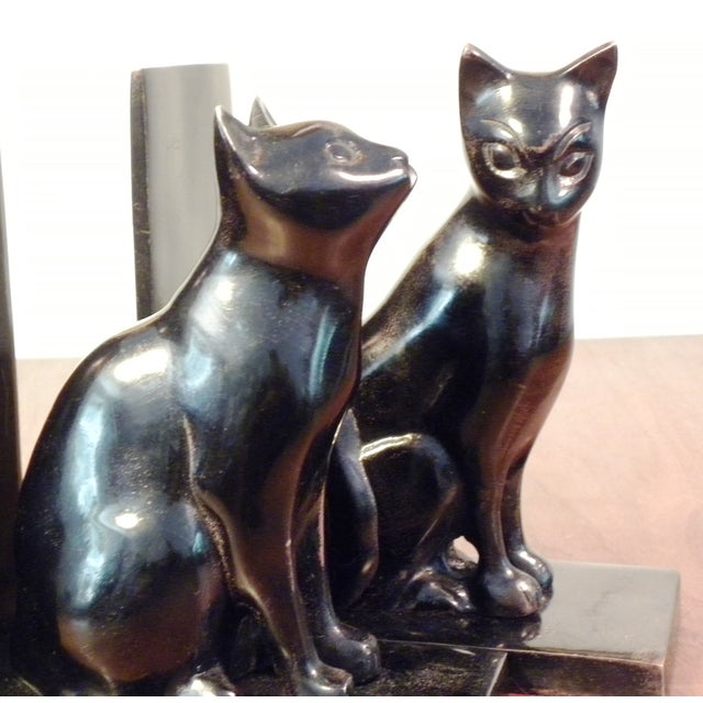 Vintage Mid Century Black Cat Bookends - Pair - Image 5 of 7