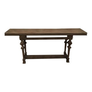 Console Table (Converts to Dining Table) For Sale