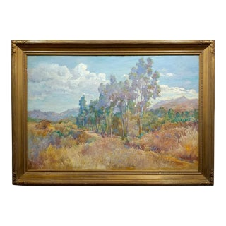 """Charles Arthur Fries """"Late Afternoon in a California Landscape"""" Oil Painting For Sale"""