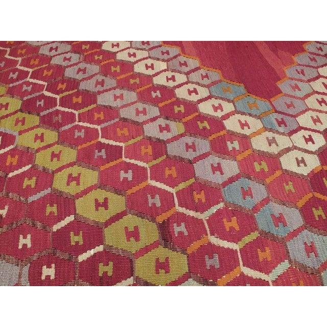 """Honeycomb"" Sharkisla Kilim For Sale - Image 4 of 10"