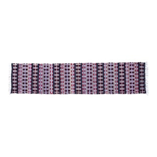 """Handwoven Reversible Vintage Swedish Rug by Scandinavian Made 110"""" x 25"""" For Sale"""