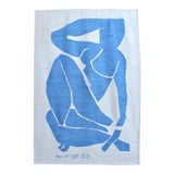 Image of Henri Matisse - Blue Nude 3 - Inspired Silk Hand Woven Flat Weave Area - Wall Rug 4′8″ × 6′10″ For Sale