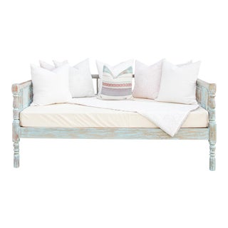 Elegant Colonial Carved Daybed For Sale