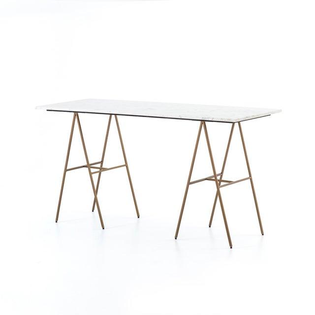 Gold Contemporary Erdos + Ko Emory Writing Desk For Sale - Image 8 of 8