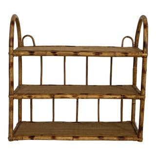 1960s Bamboo Wall Shelf For Sale
