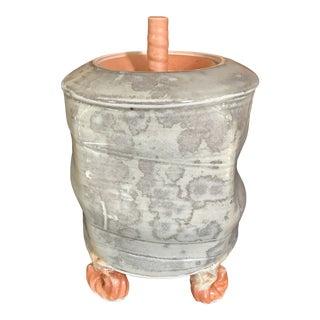 Contemporary Handcrafted Porcelain Lidded Pot by Malcom Davis For Sale
