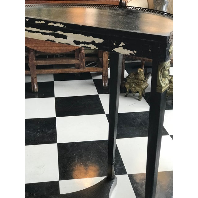 1920s French Empire Demi-Lune Table For Sale - Image 4 of 8