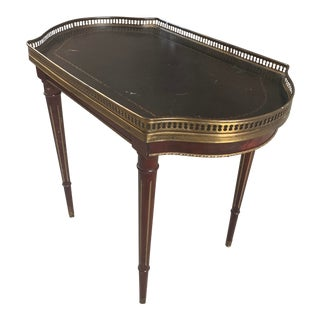 Antique French Small Table With Brass Gallery For Sale