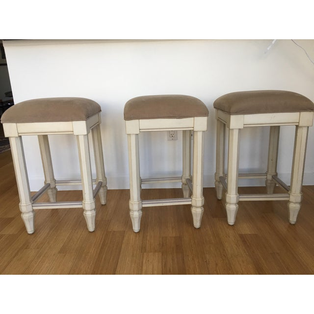 Tan Backless Counter Stools - Set of 3 - Image 2 of 5