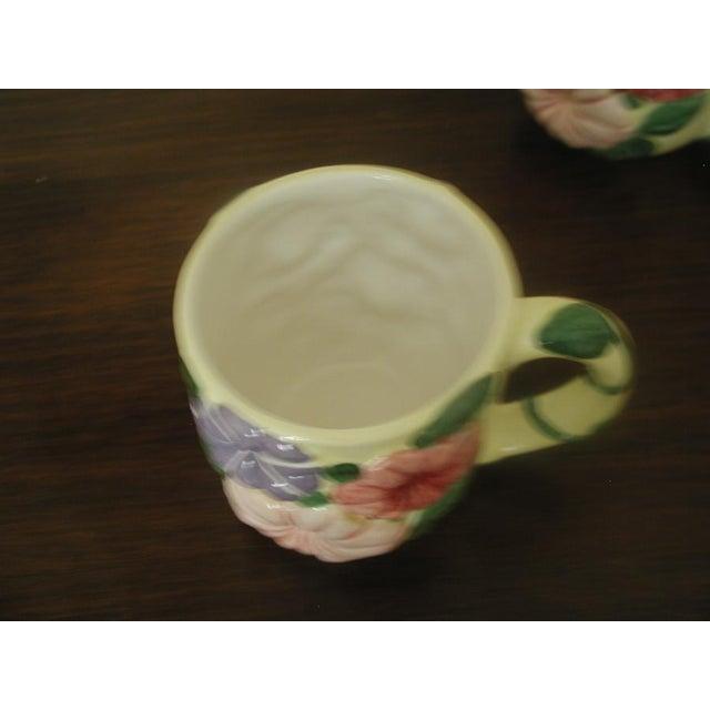 Vintage Colorful Glazed Earthenware Mugs - Set of 8 For Sale - Image 4 of 7