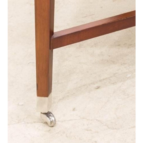 Bolier & Co. Swirl Mahogany Side Tables - Pair - Image 4 of 5