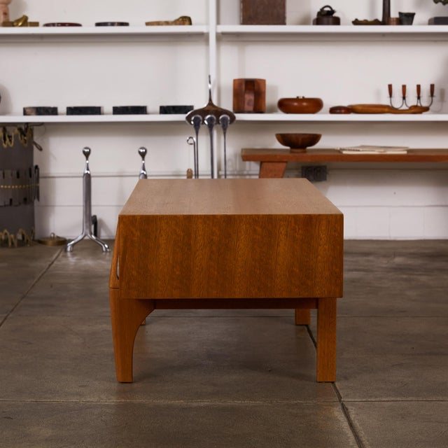 Brown Single Bench With Storage by John Keal for Brown Saltman For Sale - Image 8 of 12