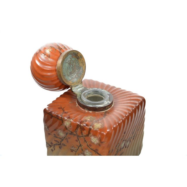 Mid 19th Century 19th Century Painted Porcelain Inkwell Bottle For Sale - Image 5 of 9