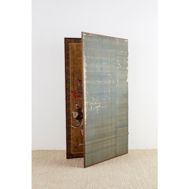 Japanese Edo Bugaku Imperial Court Dance Two-Panel Screen For Sale - Image 11 of 13