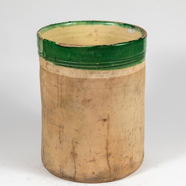 Green Banded Pot From Early 20th Century England For Sale - Image 4 of 5