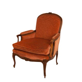 1890 Belle Epoque Louis XV StyleWalnut Bergere Chair