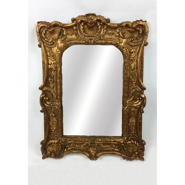 Early 20th Century 20th Century Italian Ornate Gilt Detailed Mirror For Sale - Image 5 of 5
