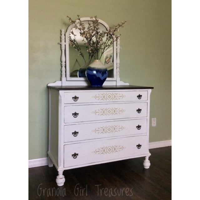 Vintage Hand Painted Mirrored Dresser - Image 3 of 7