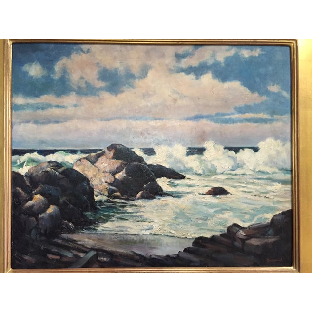Vintage California Seascape by Greenwood - Image 7 of 7