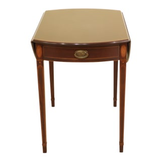 Biggs Federal Style Inlaid Mahogany Pembroke Table For Sale