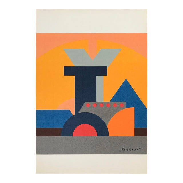 Josua Reichert Lithograph in the Plate Typographic Composition For Sale