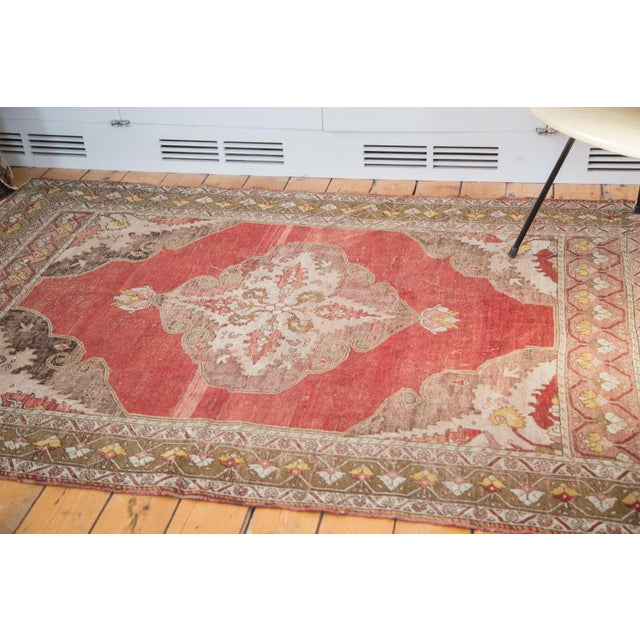 "Vintage Distressed Oushak Rug - 4'8"" X 6'10"" - Image 2 of 8"