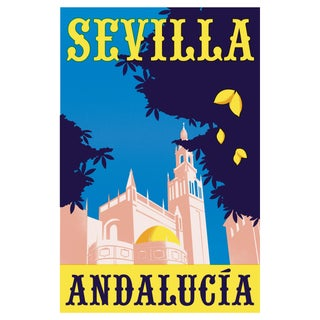 2019 Contemporary Travel Poster - Pascal Blanchet - Sevilla For Sale