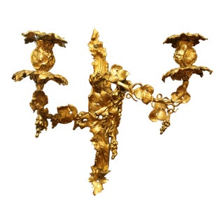 Mid 19th Century French Rococo Revival Bronze Wall Sconce For Sale
