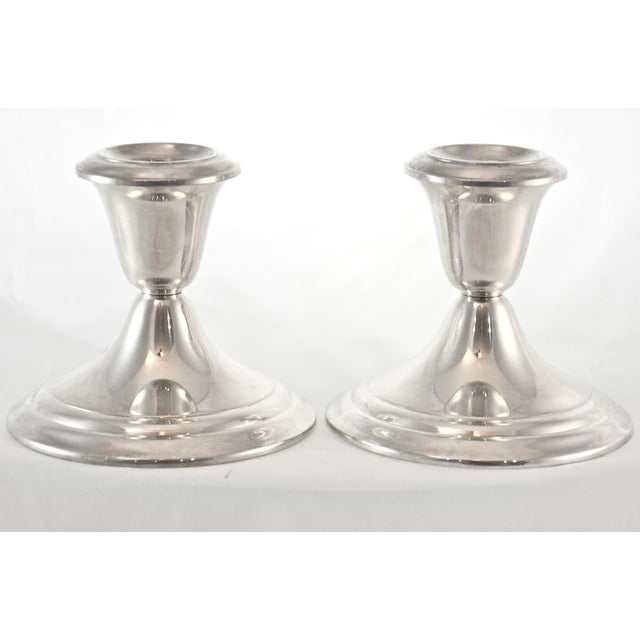 Gorham Gorham Sterling Silver Candleholders - a Pair For Sale - Image 4 of 4