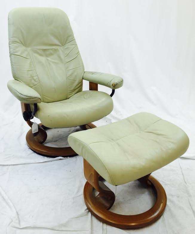 Delightful Vintage Ekornes Norway Stressless Chair U0026 Ottoman   Image 2 ...