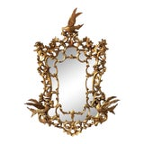 Image of 20th Italian Giltwood Carved Eagles Mirror For Sale