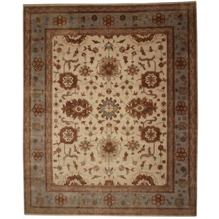 "RugsinDallas New Hand Knotted Wool Oushak Rug - 12'2"" X 14'10"" For Sale"