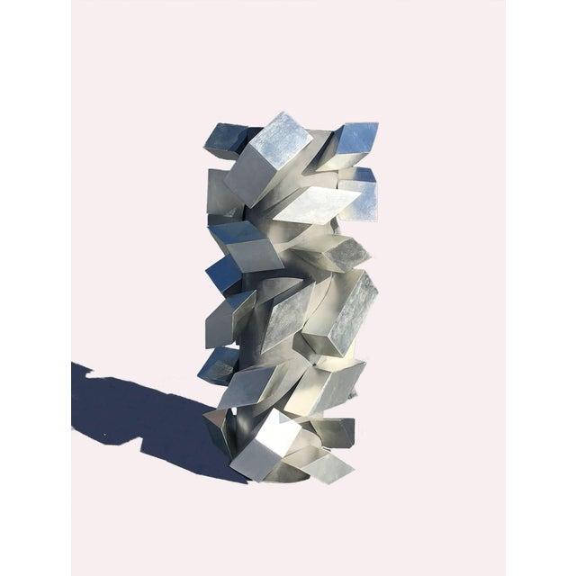 2010s Cubist Silver Leaf Sculpture For Sale - Image 5 of 6