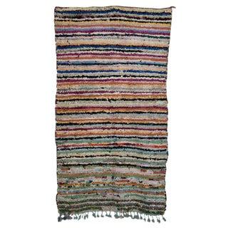 "Boucherouite Moroccan Carpet - 6'6""x3'8"""