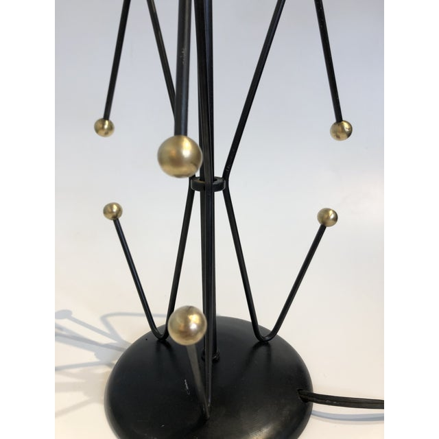 Mid Century Black & Brass Weinberg Lamps - a Pair For Sale In San Francisco - Image 6 of 9