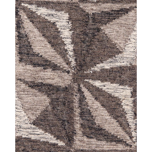 Solo Rugs Grit and Ground Collection Contemporary Samoa Hand-Knotted Flatweave Area Rug, Gray, 8' X 10' For Sale - Image 4 of 5
