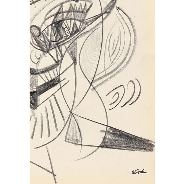 Cubist Graphite Portrait by Michael di Cosola - Image 2 of 2