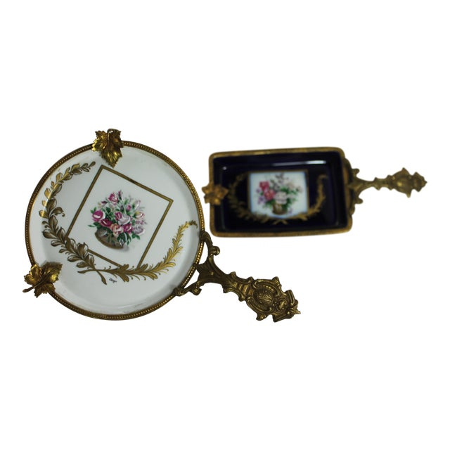Antique Limoge France Painted Bronze Dishes - A Pair - Image 1 of 11
