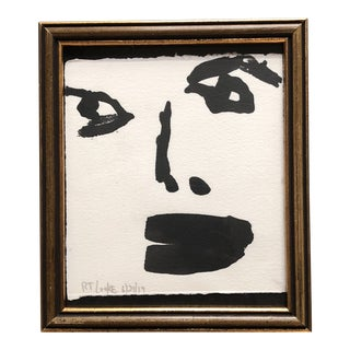 Contemporary Robert Cooke Abstract Small Face Painting For Sale