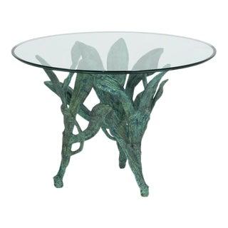 Cast Aluminium Sculptural Centre/Side Table 1960s For Sale