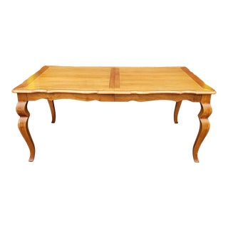 Ethan Allen Legacy Collection Dining Room Table & 2 Leaves Model 13-6414 For Sale