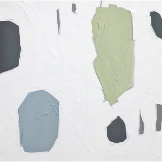 'Fragments Iv' by Kit Porter - Modern Minimalist Mixed Media Painting For Sale