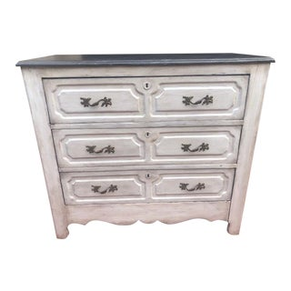 19th Century White Painted Chest For Sale