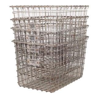 Medart Gym Locker Wire Baskets C.1940 For Sale